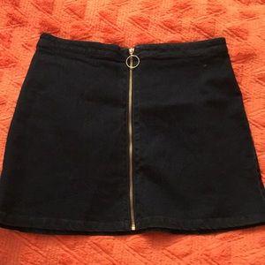 denim jean skirt